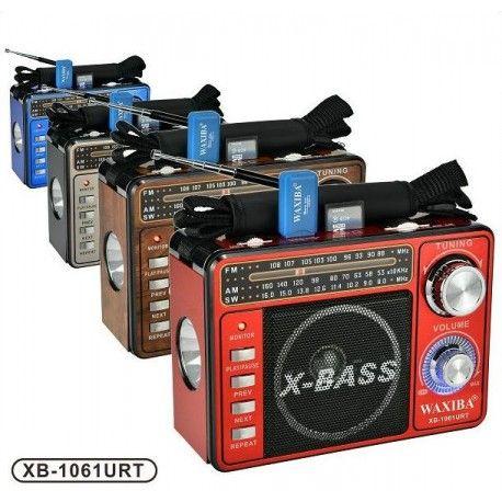 Radio Multibanda con reproductor MP3- USB - SD y Linterna Led