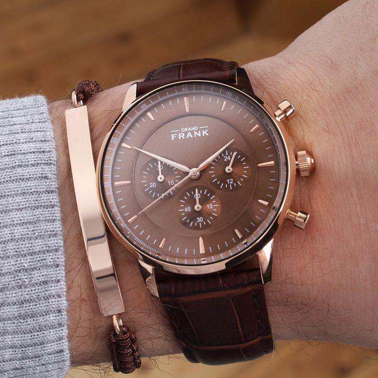 The Kingston brown leather chronograph ⌚️  #Grandfrankwatches  www.Grandfrank.com