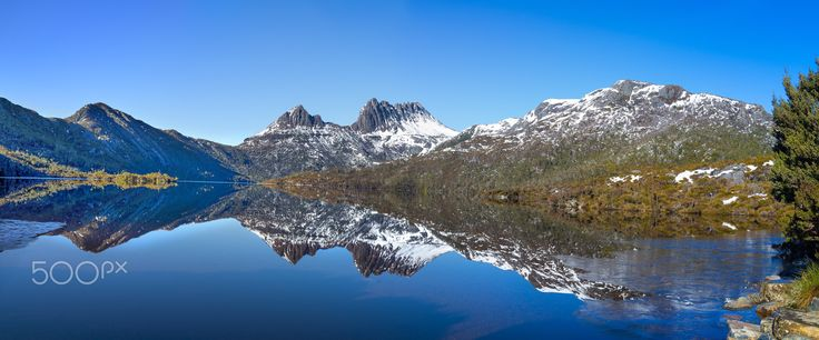 Cradle mountain and Dove Lake - The beautiful Cradle Mountain and Dove Lake in Tasmania.