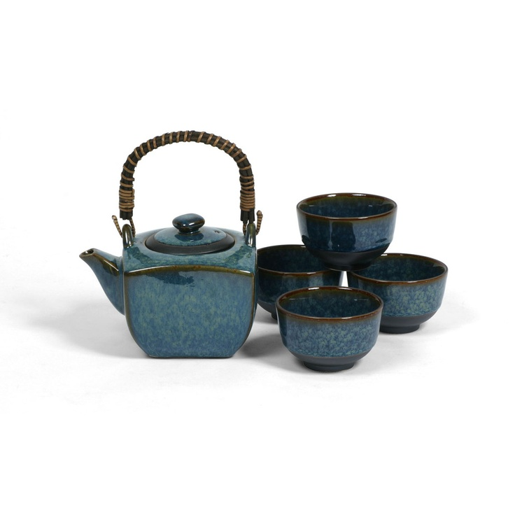 Blue Lilac Tea Set - Miya.  BEAUTIFUL!