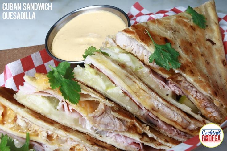 Cuban Sandwich Quesadilla | Cocktail Bodega | Pinterest
