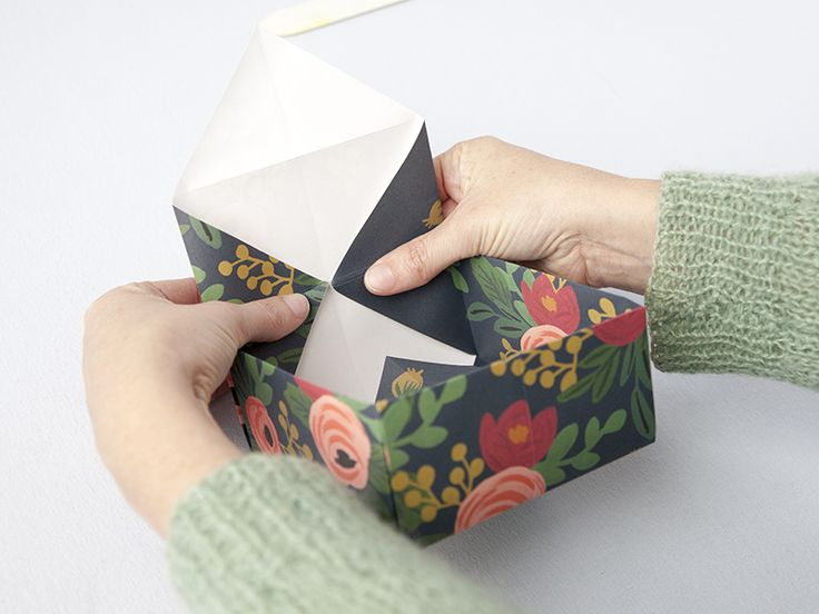 diy gift box : Turn a pretty sheet of paper into a gift box with this how-to.