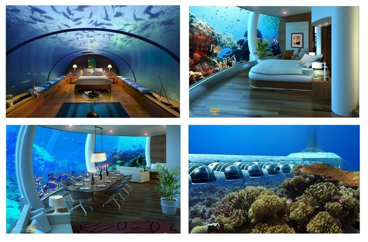 Incredibile Resort sottomarino nelle isole Fiji. Poseidon!  http://www.designtendencia.com.br/blog/hoteis/poseidon-o-hotel-no-fundo-do-mar/ Amazing Place www.ezapping.com