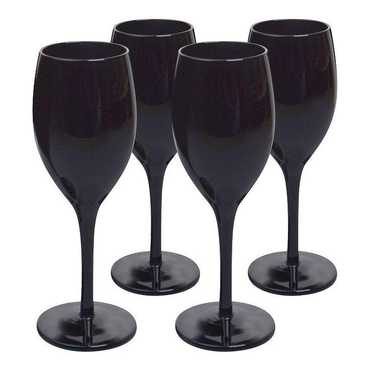 Artland 4-pc. Midnight Black Wine Glass Set