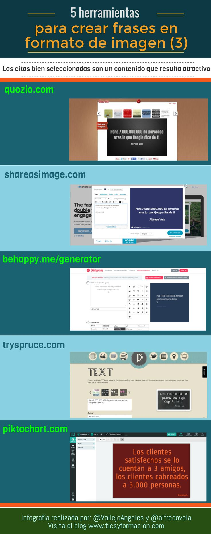 5 Herramientas online para crear frases en formato de imagen (3) #infografia #infographic #citas #quotes
