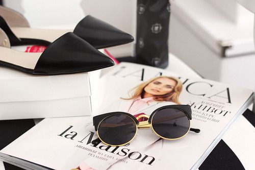 grafika fashion, magazine, and shoes