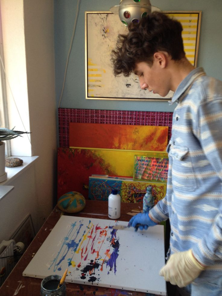 Jacob getting in the artistic mood