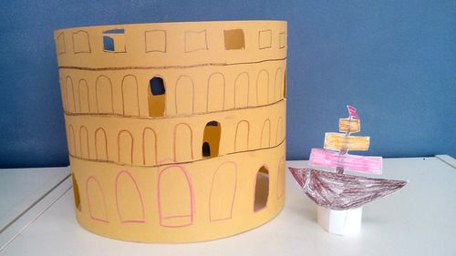 Colosseum  Kids ART Classroom ART project DIY with kids in KAVARDAK blog