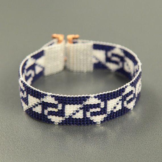Inca Indiase saffieren Bead Loom Manchet armband Indiaanse stijl Beaded Jewelry Boho Tribal Turquoise Zoetwaterparel zuidwesten