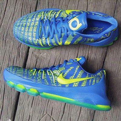 san francisco 0f3e7 17cd7 Nike KD 8 Hyper Cobalt Volt Green Strike Black