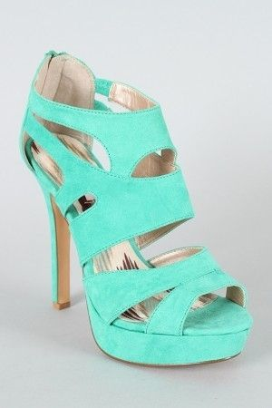 mint colored heels