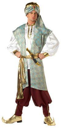 Sultan Adult Costume - Arabian Costumes