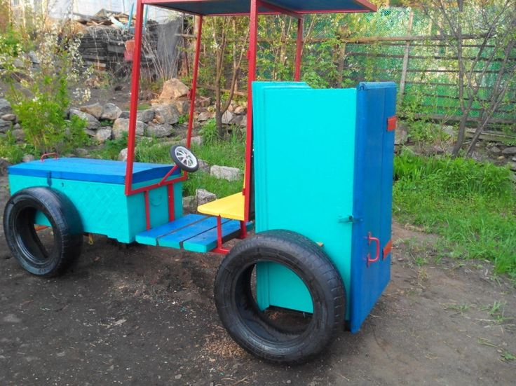 the tractor in the Playground