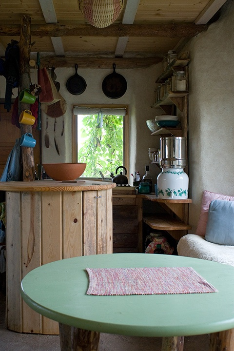 """""""Like many other tiny house dwellers, we have learned the importance of scaling the furniture to the space."""": Tiny Homes, Ideas Wedding, Tiny House, Cabin Ideas, House Ideas, Design Ideas, Cabin Kitchens, Cob House, Living Room"""