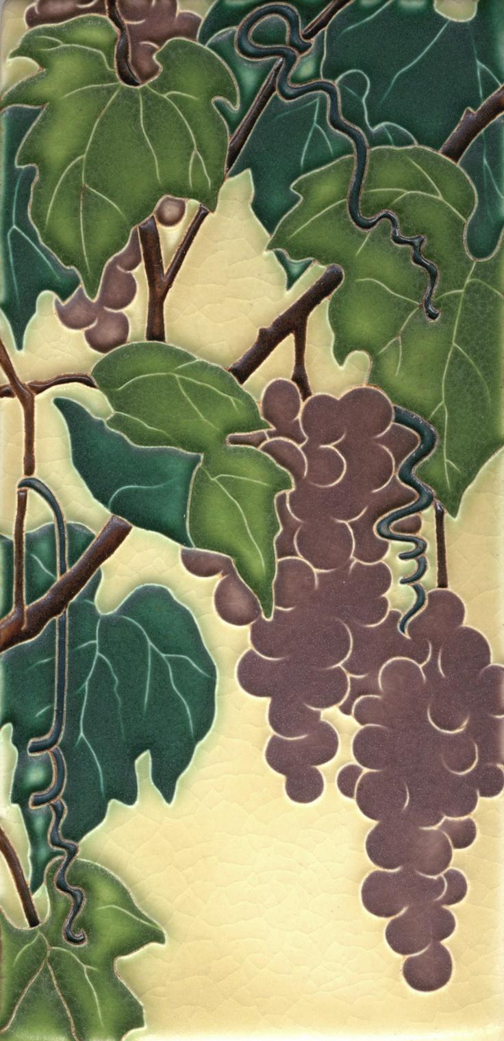 201 best motawi tiles images on pinterest art tiles art nouveau 4x8 grapevine in merlot by motawi tileworks dailygadgetfo Images