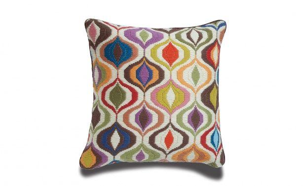 Coco Republic Bargello - Multicoloured Waves Cushion