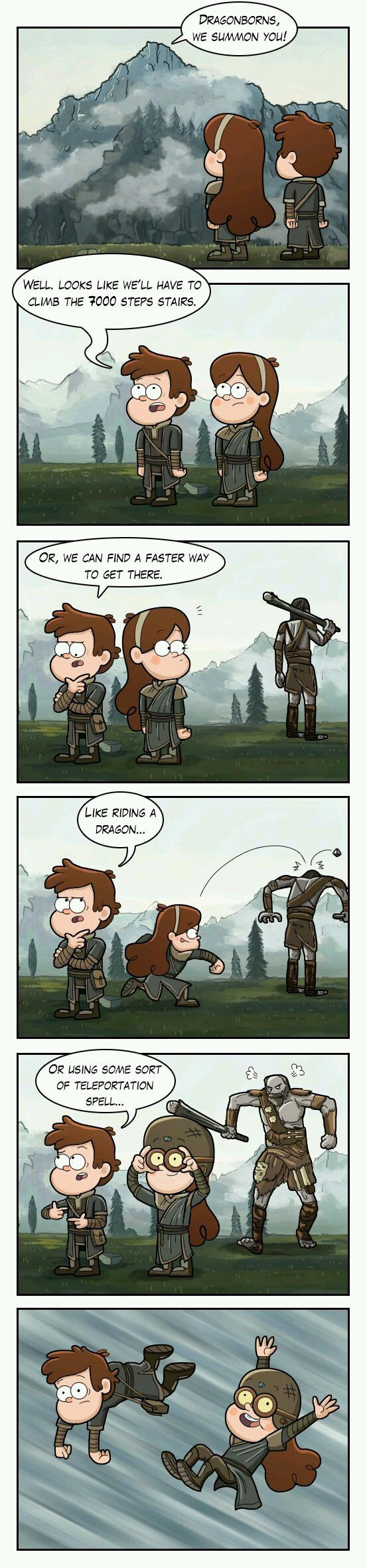 Gravity Falls/Skyrim...I don't even know what this is, but I kind of like it...