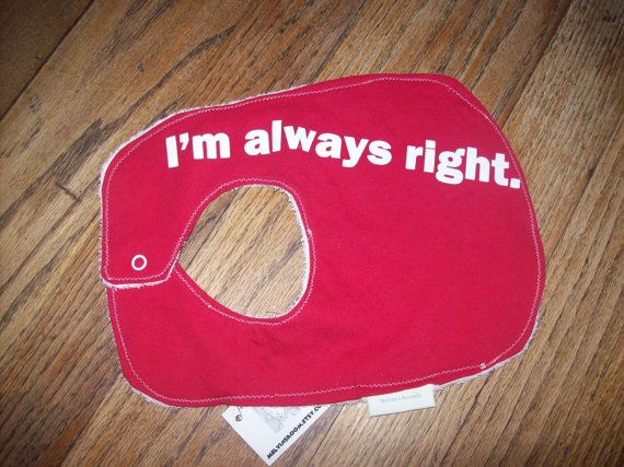Upcycled Baby Bib with Attitude