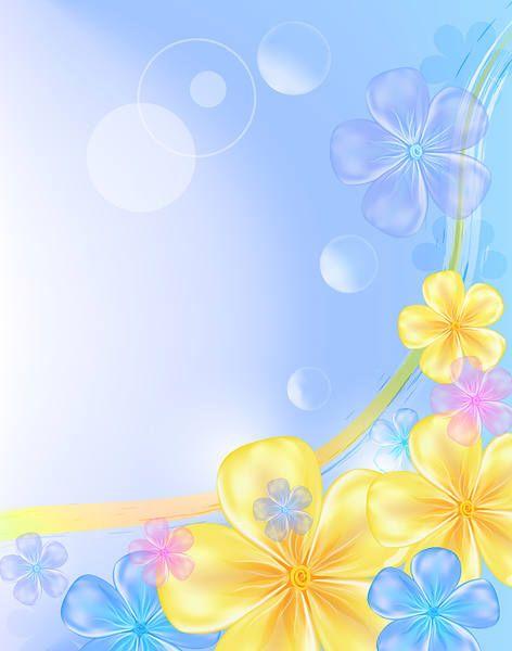 Синий цветочный фон