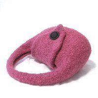 Pink Felt Handbag