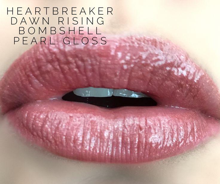 LipSense layers : heartbreaker Dawn rising Bombshell  Pearl gloss  Distributor # 202596