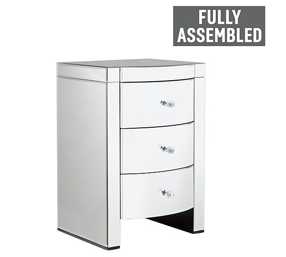 Buy Heart of House Canzano 3 Drawer Mirrored Bedside Chest at Argos.co.uk, visit Argos.co.uk to shop online for Bedside cabinets, Bedroom furniture, Home and garden
