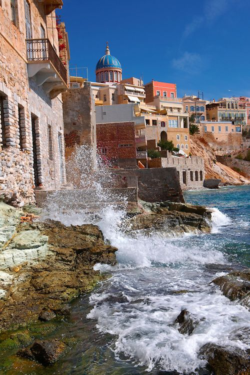 Ermoupolis . Cyclades Islands . Greece