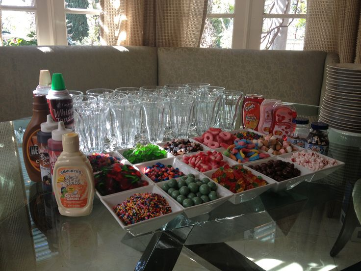 Ice Cream Sundae Bar DIY - Great Idea for overnight stay in a hotel or make your own sundaes at home.