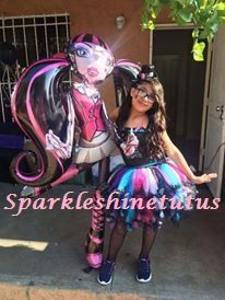 Monster High tutu dress created by me.