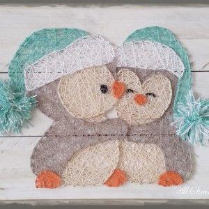 Cuddle Penguins string art More                                                                                                                                                                                 More
