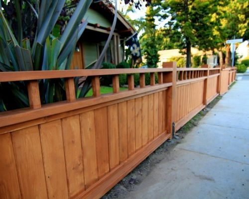 11 best picket fences images on pinterest fence ideas for Craftsman style fence