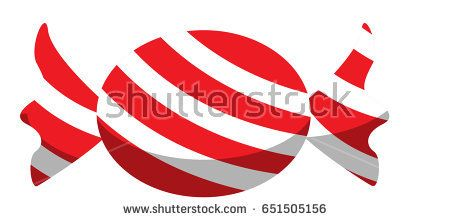 Red and white stripped candy vector