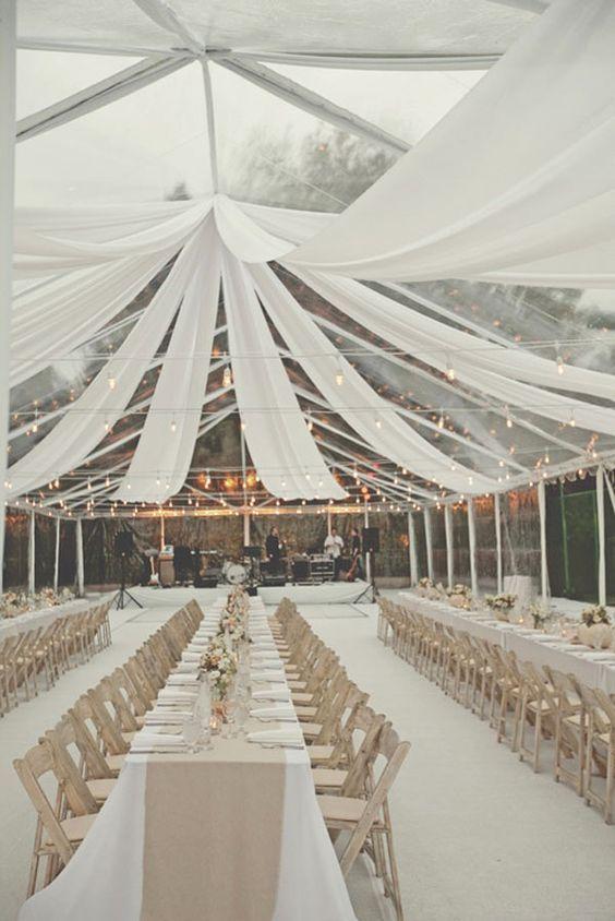 Telas en blanco para decorar tu boda