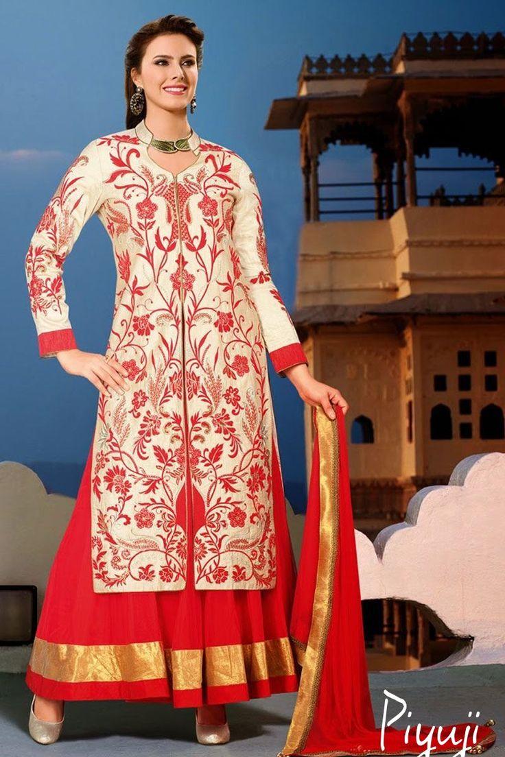 Shop #celebrity Gown style long length Suit Piyuji fashion