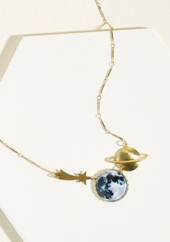 Eclectic Eccentricity Eyes on the Skies Necklace