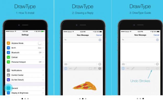 Tastiera per iOS 8 che permette di disegnare i messaggi #ios #ios8 #apple