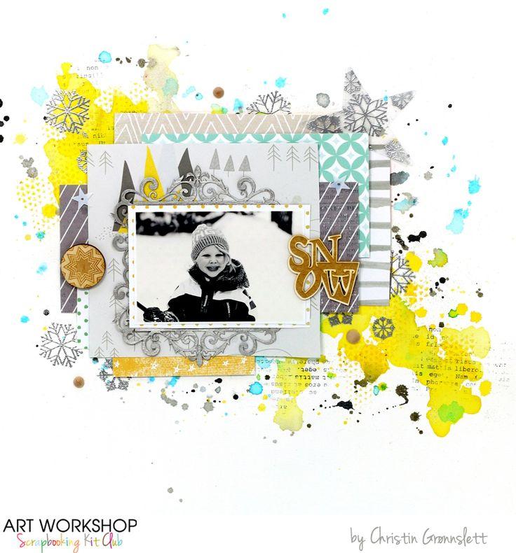 Art Workshop Kit Club November 2014 Scrap Main Kit by Christin Gronnslett