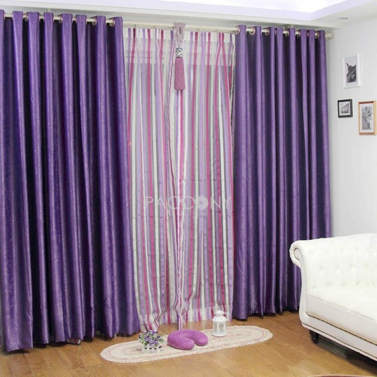 Select Top Plush Thicken Sound Proofing Blackout Curtain(Purple) On Http:/