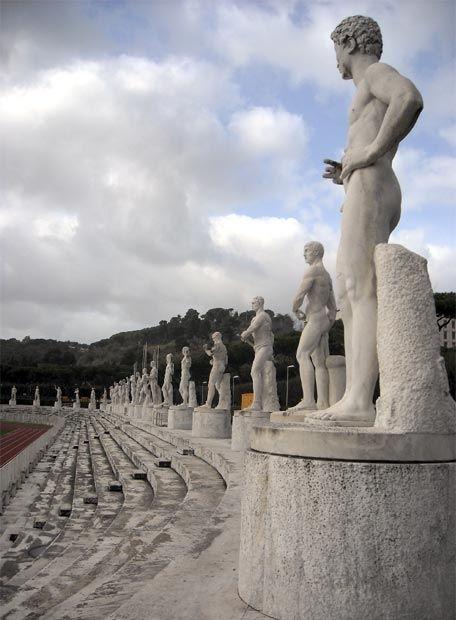 Stadio dei marmi del Foro Itálico (Roma, 1928-38)  Diseño Arquitectónico:  Enrico Del Debbio (Italia, 1891-1973) Clasicismo Nacionalista Italiano