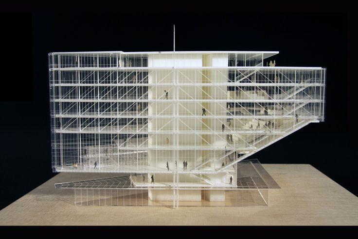 Such Skill Architectural Model Renzo Piano Maison Des