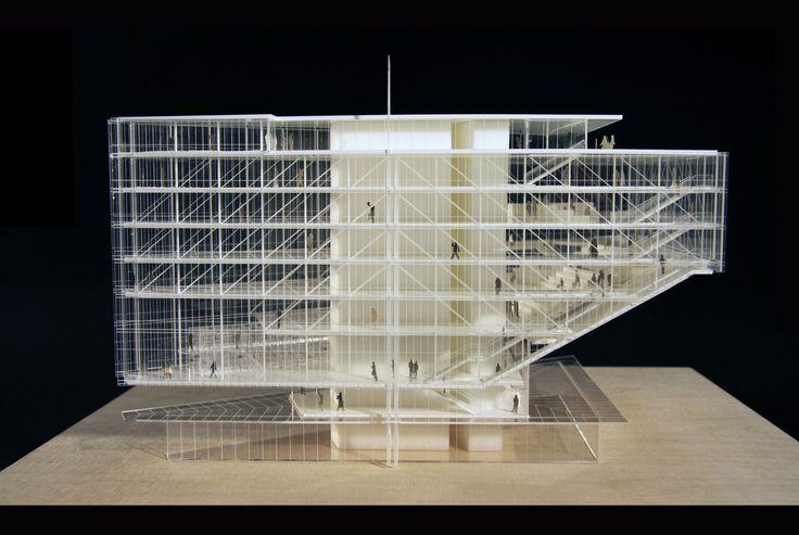 architectural model renzo piano maison des avocats