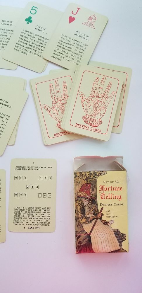 Fortune Telling Destiny Cards by A J  Dana 1991 Hong Kong Readers