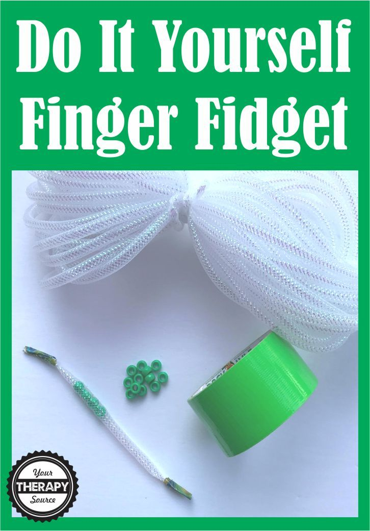 Finger Fidget or Finger Warm Up Exercises - make this super simple and cheap finger fidget to keep hands busy or strengthen fine motor skills.