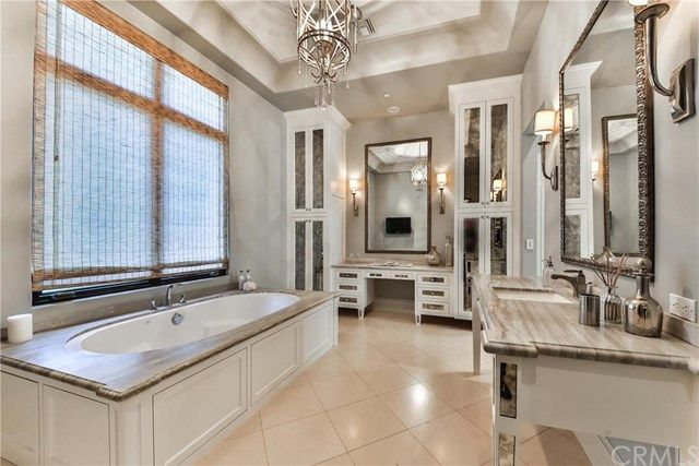 Deserving the title of glam room more so than bathroom, you'll never want to leave the master bath.