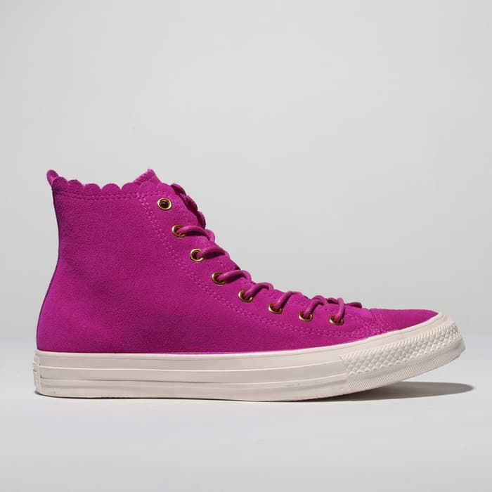 womens pink converse all star hi frilly