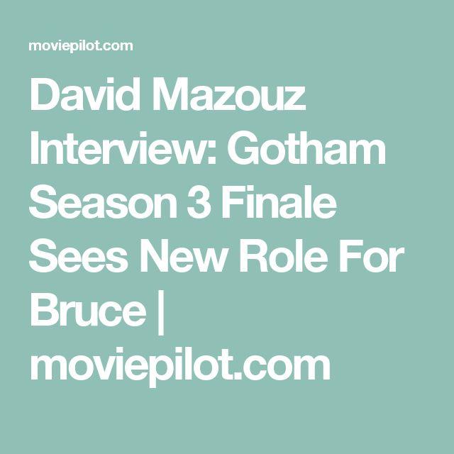 David Mazouz Interview: Gotham Season 3 Finale Sees New Role For Bruce   moviepilot.com