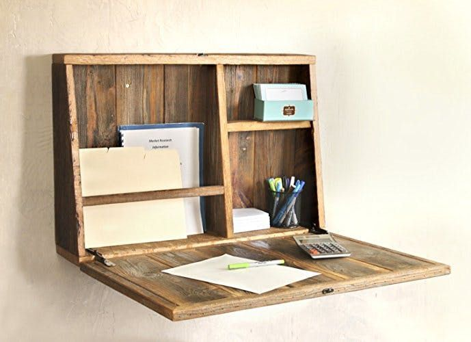 Space Saver: 17 Wall-Mounted Desks to Buy or DIY via Brit   Co