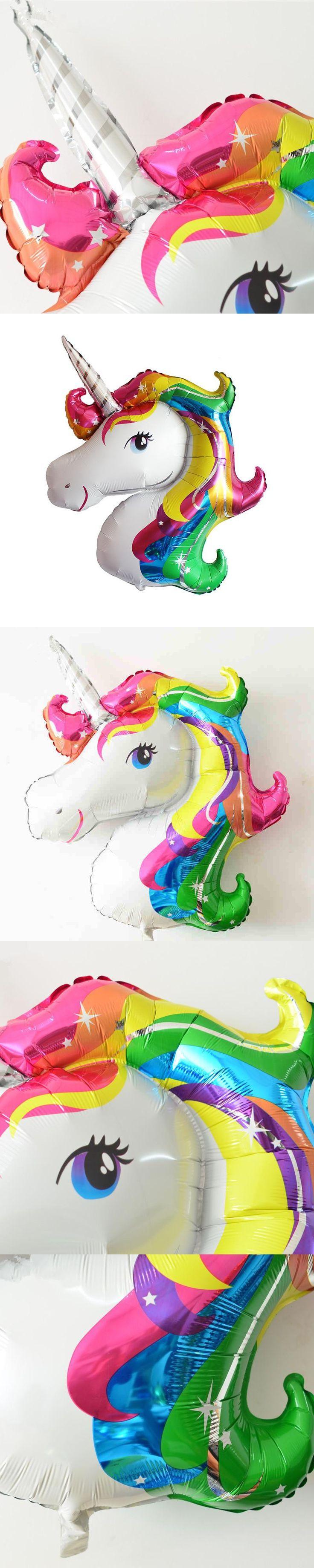 1pc 125x88cm Aluminium Foil Unicorn Shape Balloons Inflatable Classic Toys Birthday Party Decoration Unicorn Party Supplies