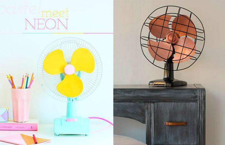 Renovando objetos cotidianos: como deixar o ventilador lindo!