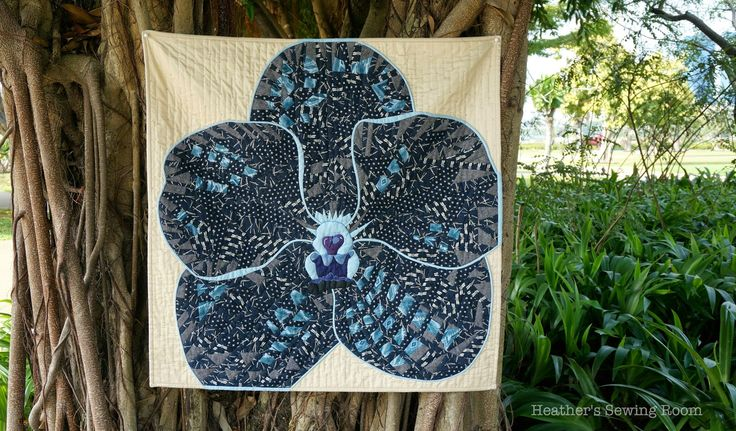 Heather's Sewing Room: Designing and Making the Indigo Orchid Quilt